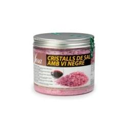 CRISTALLS DE SAL AMB VI NEGRE 450 G SOSA